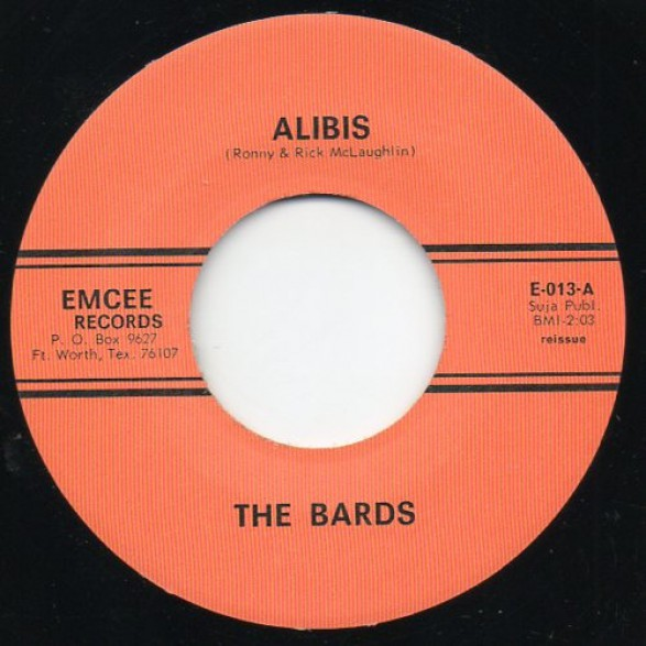 """BARDS """"ALIBIS / THANKS A LOT BABY"""" 7"""""""