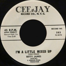 "BETTY JAMES ""I'M A LITTLE MIXED UP/Help Me To Find My Love"" 7"""