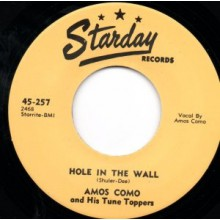 "Amos Como & His Tune Toppers ""Hole In The Wall/Heartbroken Lips"" 7"""