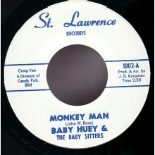 "BABY HUEY & THE BABYSITTERS ""MONKEY MAN/ MESSIN' WITH THE KID"" 7"""