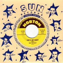 "Billy Lee Riley/Gene Simmons ""She's My Baby/Peroxide Blonde And A Hopped Up Model Ford"" 7"""