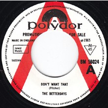 "BETTERDAYS ""HERE TIS/DON'T WANT THAT"" 7"""