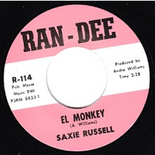 """SAXIE RUSSELL """"EL MONKEY / COME DANCE WITH ME"""" 7"""""""