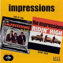 "IMPRESSIONS ""ONE BY ONE/ RIDIN HIGH"" CD"