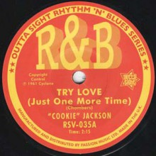 "COOKIE JACKSON ""Try Love (Just One More Time)""/ JACKI ROSS ""Hard Times"" 7"""