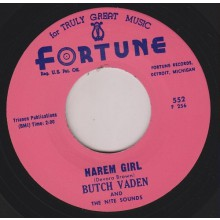 "Butch Vaden And The Nite Sounds ""Harem Girl / The Roll"" 7"""