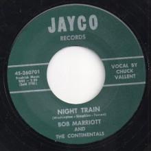 """BOB MARRIOTT & The Continentals """"I'LL WALK A MILE / NIGHT TRAIN"""" 7"""""""