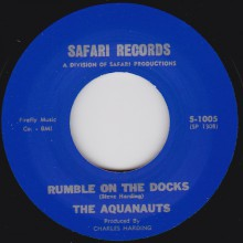 "AQUANAUTS ""RUMBLE ON THE DOCKS / BOMBORA"" 7"""