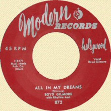 """BOYD GILMORE """"ALL IN MY DREAMS / TAKE A LITLLE WALK WITH ME"""" 7"""""""