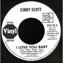 "CINDY SCOTT ""I Love You Baby/ In Your Spare Time"" 7"""