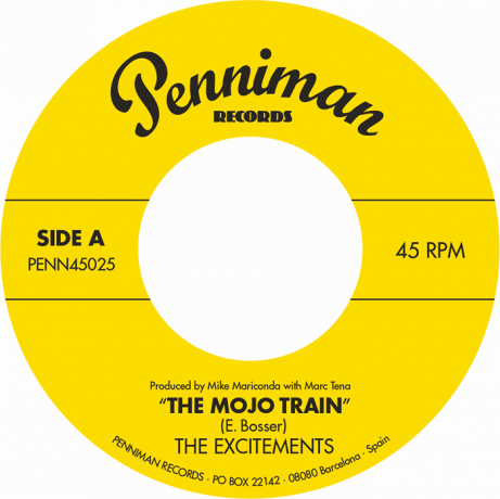 "EXCITEMENTS ""Mojo Train / I'll Be Waiting"" 7"""