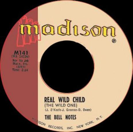 """BELL NOTES """"REAL WILD CHILD / SHORTNIN' BREAD"""" 7"""""""