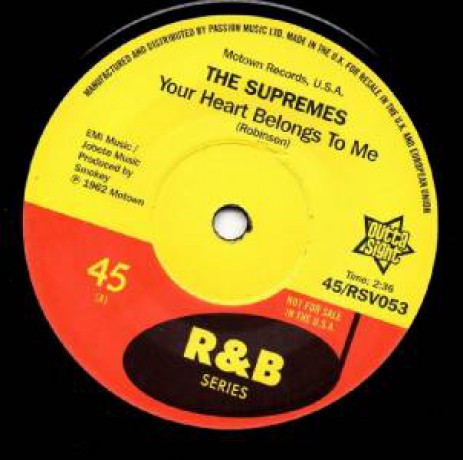 """THE SUPREMES """"Your Heart Belongs To Me"""" 7"""""""