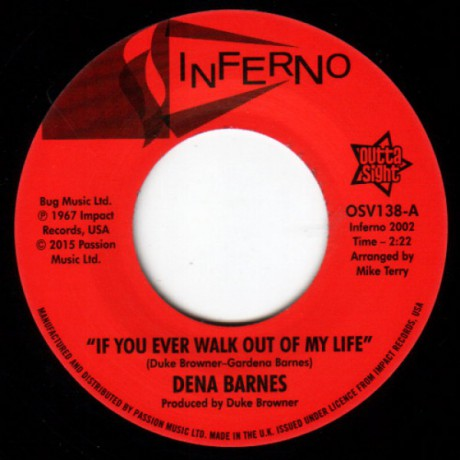 "DENA BARNES ""If You Ever Walk Out Of My Life / Who Am I"" 7"""