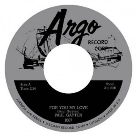 "PAUL GAYTEN ""For You My Love / Down Boy"" 7"""