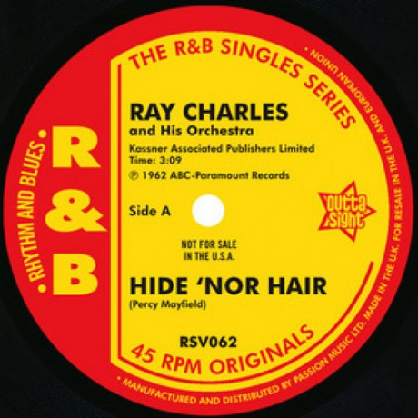 """RAY CHARLES """"Hide 'nor Hair/ Unchain My Heart / Hit The Road"""" 7"""""""