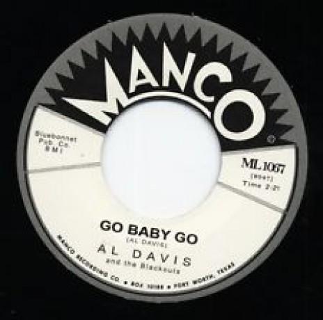 "AL DAVIS ""Go Baby Go/ Ricky Tic"" 7"""