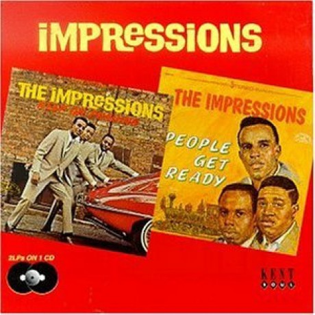 """IMPRESSIONS """"KEEP ON PUSHING/PEOPLE GET READY"""" CD"""