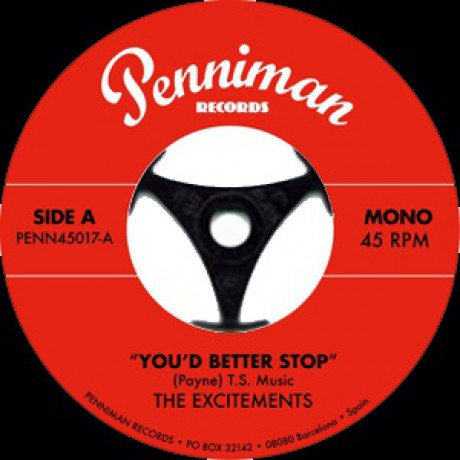 """EXCITEMENTS """"YOU'D BETTER STOP"""" 7"""""""