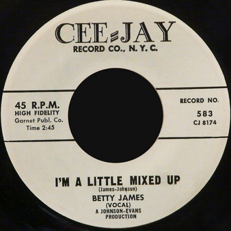 """BETTY JAMES """"I'M A LITTLE MIXED UP/Help Me To Find My Love"""" 7"""""""