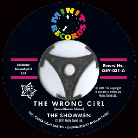 """Showmen """"The Wrong Girl/ Fate Planned It This Way"""" 7"""""""