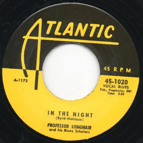 "PROFESSOR LONGHAIR ""IN THE NIGHT / TIPITINA"" 7"""