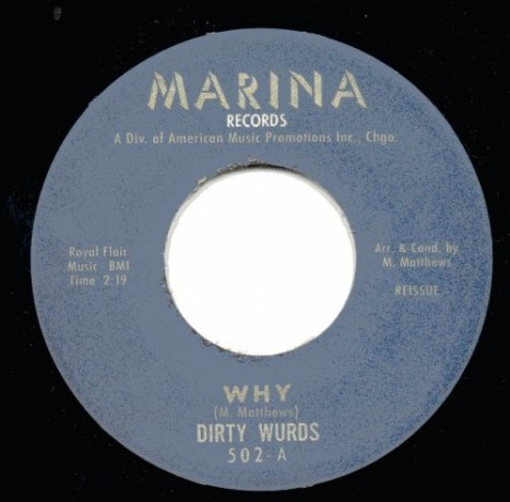 "DIRTY WURDS ""WHY/TAKIN' MY BLUES AWAY"" 7"""