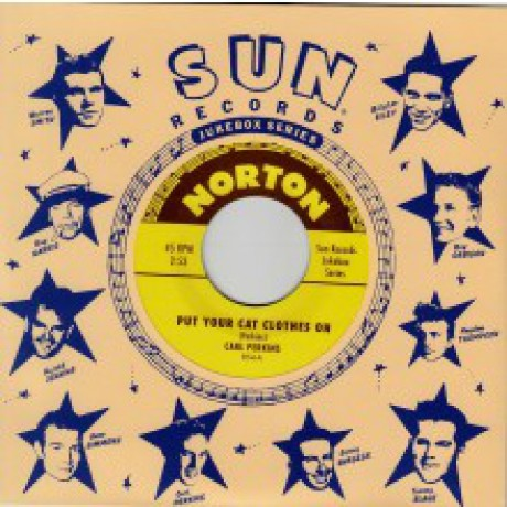 "Carl Perkins/Warren Smith ""Put Your Cat Clothes On/Stop The World"" 7"""