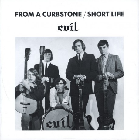 """EVIL """"FROM A CURBSTONE / SHORT LIFE"""" 7"""""""