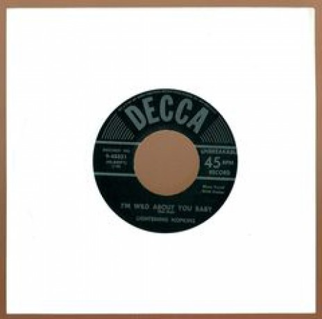 "LIGHTNIN' HOPKINS I'M WILD ABOUT YOU / BAD THINGS"" 7"""