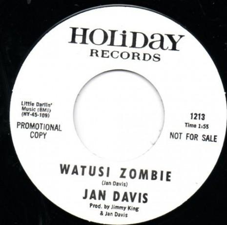 "JAN DAVIS ""WATUSI ZOMBIE / POOKY"" 7"""