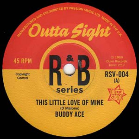 "BUDDY ACE ""This Little Love Of Mine"" / JAMES BOOKER ""Gonzo"" 7"""
