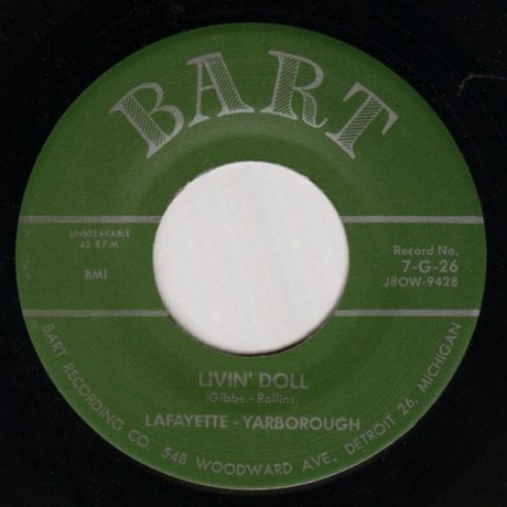 """Lafayette Yarborough """"Cool Cool Baby/Livin' Doll"""" 7"""""""