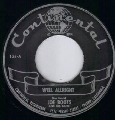 "Joe Boots & His Band ""Well Allright/ Rock'N Roll Jungle Girl"" 7"""