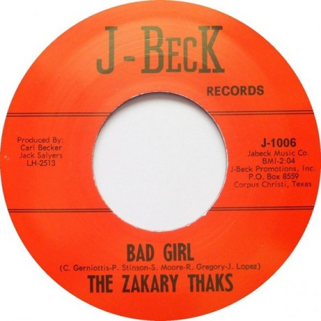 "ZAKARY THAKS ""BAD GIRL / I NEED YOU"" 7"""