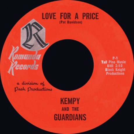 """Kempy And The Guardians """"Love For A Price/ Love For A Price (slow version) 7"""""""