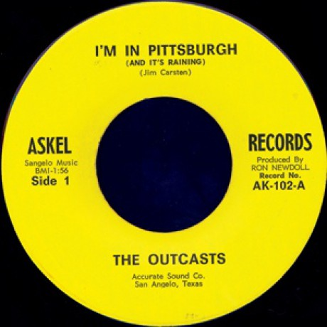 """OUTCASTS """"I'M IN PITTSBURGH & IT'S RAINING/Route 66"""" 7"""""""