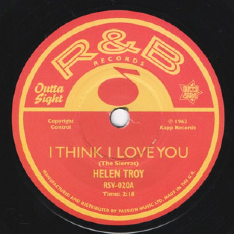 "HELEN TROY ""I Think I Love You"" / FRANCES BURNETT ""How I Miss You So"" 7"""