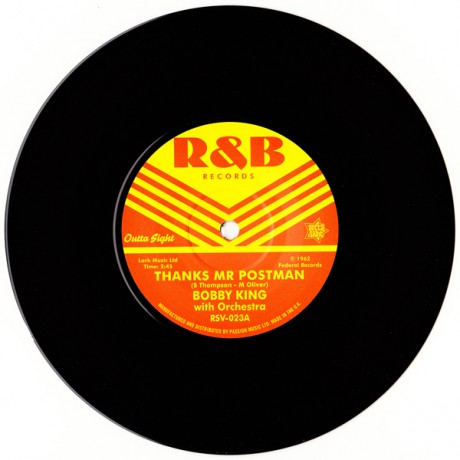 "BOBBY KING ""Thanks Mr Postman"" / BOBBY GUY ""Good Enough"" 7"""