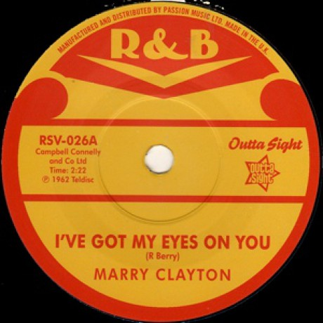 "MARRY CLAYTON ""I've Got My Eyes On You / The Doorbell Rings"" 7"""