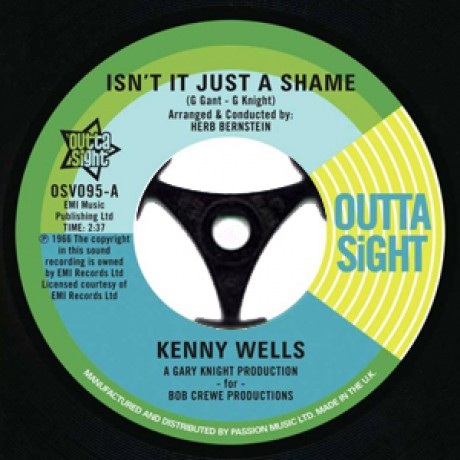 """KENNY WELLS """"Isn't It Just A Shame"""" / LAINIE HILL """"Time Marches On"""" 7"""""""