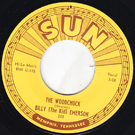 "BILLY (THE KID) EMERSON ""THE WOODCHUCK / I'M NOT GOING HOME"" 7"""