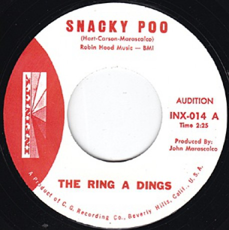 """RING A DINGS """"SNACKY POO PTS 1 & 2"""" 7"""""""