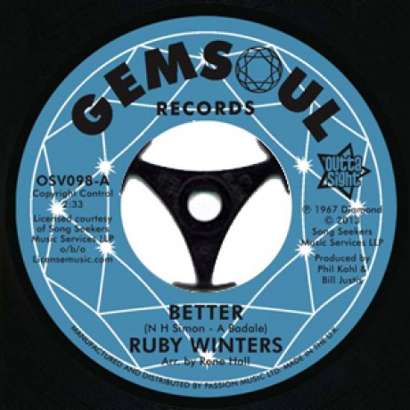 """RUBY WINTERS """"Better / In The Middle Of A Heartache"""" 7"""""""