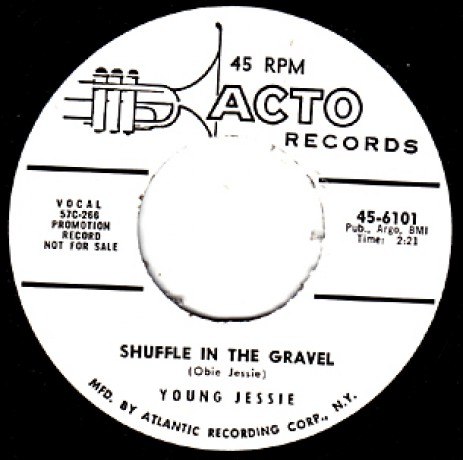 """YOUNG JESSIE """"SHUFFLE IN THE GRAVEL/Make Believe"""" 7"""""""