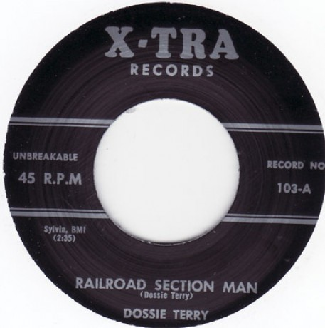"""DOSSIE TERRY """"YOU WILL BE MINE / RAILROAD SECTION MAN"""" 7"""""""