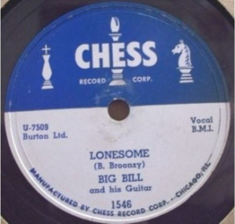 "BIG BILL (BROONZY) ""LITTLE CITY WOMAN/LONESOME"" 7"""