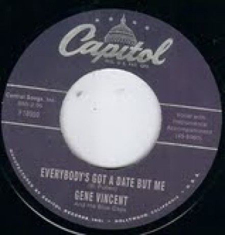 "GENE VINCENT & HIS BLUE CAPS ""Everybody Got A Date But Me"" / WANDA JACKSON ""Fallin'"" 7"""