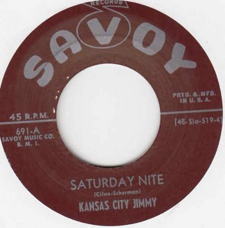 "Kansas City Jimmy ""Saturday Nite/Cheatin' Women"" 7"""