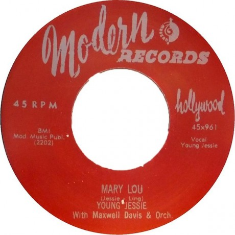 """YOUNG JESSIE """"MARY LOU / DON'T THINK I WILL 7"""""""